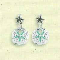 Starfish Sand Dollar Clip Earrings