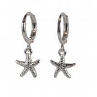 Silver Starfish Huggie Earring