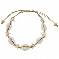 Cowrie Starfish Knot Anklet