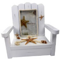 "4"" x 6"" White 3D Chair Picture Frame"