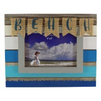 "4"" x 6"" Antique Blue Beach Flag Picture Frame"