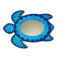 Blue Mosaic Wall Mirror