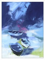 "42"" x 32"" Cove Boats 1 Framed Canvas"