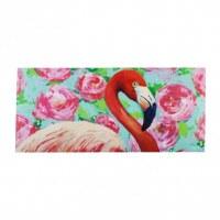 """10"""" x 22"""" Floral Flamingo Sassafras Doormat"""