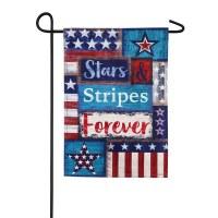 """18"""" x 12"""" Mini Stars & Stripes Forever Garden Flag"""