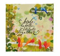 "5"" Square Birthday Celebrate Canvas Print Card"