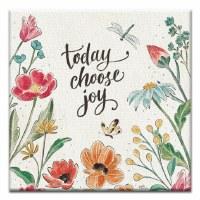 "5"" Square Choose Joy Flower Canvas Print Card"