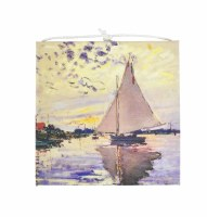 "5"" Square Monet Sailboat Canvas Card"