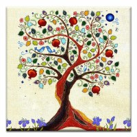 "5"" Square Tree Of Life Canvas Print Card"