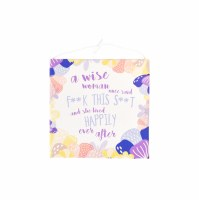 "5"" Square Birthday Wise Woman Canvas Card"