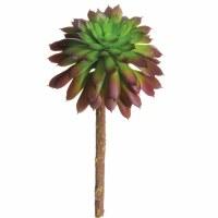 """5"""" Faux Green and Purple Echeveria"""