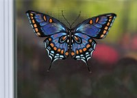 "4"" Blue Butterfly Screen Saver"