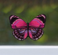 "4"" Pink Butterfly Screen Saver"