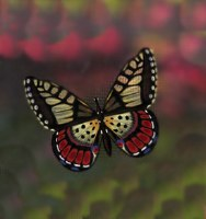 "4"" Red Butterfly Screen Saver"
