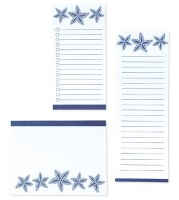 Set of 3 Starfish List Note Pads