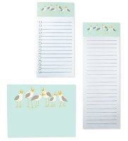 Set of 3 Seagull List Note Pads
