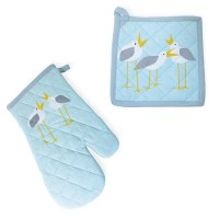 Set of Seagull Mitt and Potholder