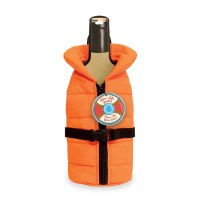 Orange Life Jacket Bottle Cover
