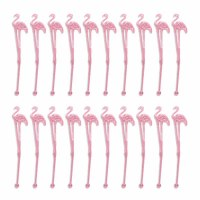 Pack of 20 Pink Flamingo Stirs