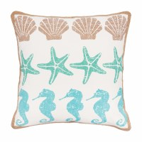 "16"" Square By The Sea Pillow"