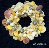 """11"""" Round Multicolored Shell Wreath"""
