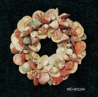 """14"""" Round Multicolored Shell Wreath"""