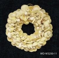 "11"" Round White Shell Wreath"