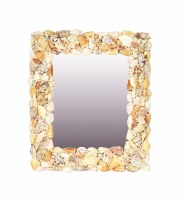 "22"" x 18"" Rectangle Natural Shell Mirror"