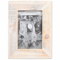 "4"" x 6"" White Wooden Picture Frame"