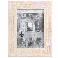 "5"" x 7"" White Wooden Picture Frame"