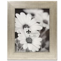 """8"""" x 10"""" Silver Burnished Picture Frame"""