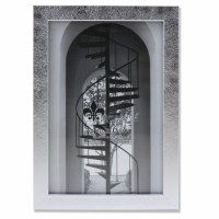 "4"" x 6"" Silver Brushed Picture Frame"