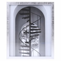 """8"""" x 10"""" Silver Brushed Picture Frame"""
