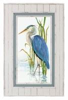 "50"" x 32"" Blue Heron 2 Framed Gel Print"
