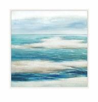 "40"" Square Liquid Blue 1 Framed Canvas"