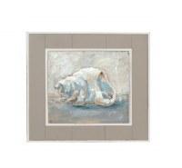 """15"""" Square Whelk Shell Framed Gel Print"""