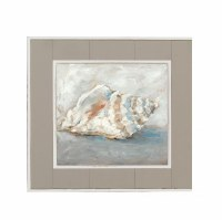"15"" Square Conch Shell Framed Gel Print"