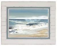 """40"""" x 50"""" Blue Shore Framed Gel Print"""