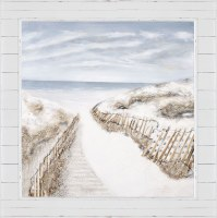 """50"""" Square Beach Pathways 3D Framed Canvas"""
