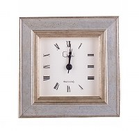 "4"" Square and Gold Cambridge Table Clock"