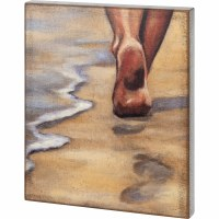 "20"" x 16"" Sandy Toes Wooden Plaque"