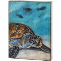 "19"" x 14"" Sea Turtle Wooden Plaque"