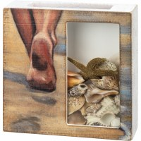 """10"""" Square Sandy Toes Shell Box"""