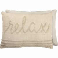 "14"" x 20"" Beige Relax Pillow"