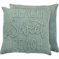 "18"" Square Turquoise Beach Sweet Beach Pillow"