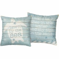"16"" Square Down By The Sea Pillow"