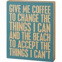 "12"" x 10"" Coffee Beach Wooden Plaque"
