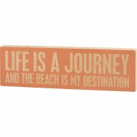 "6"" x 20"" Life Journey Beach Wooden Plaque"