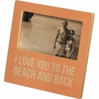 "3"" x 5"" Love Beach and Back Wooden Picture Frame"