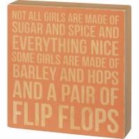 """7.5"""" x 7"""" Pair Of Flip Flops Wooden Plaque"""